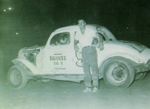 James Harrington at the Banks County Speedway in 1955. Photo from the Bobby Whitmire collection, courtesy GARHOFA.
