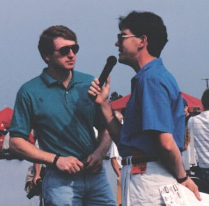 Bill Elliott got a huge response from his hometown crowd.  Elliott was just months away from announcing that he would drive for Junior Johnson beginning in 1992.  Photo by Emory Marlow