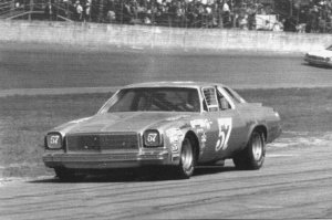 "Burcham piloting Jack White's '73 Chevelle at Daytona.  Bob Ran 20 Grand National races in '74, with one top five finish.  ""That's about as good as you can do, finish behind all the factory cars that are still around at the end."" Bob finished 17th on this day."