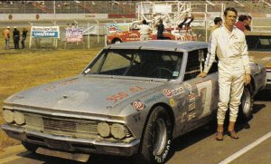 Burcham and his Chevelle at Charlotte in the early '70s.