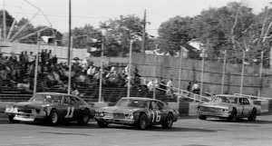 Three legends go at it.  Burcham (7) trails Jack Ingram (11) and Butch Lindley (16) at Nashville.