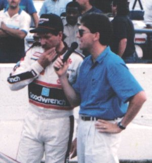 Dale Earnhardt shrugged off the Georgia boo-birds to win the match event over Elliott, Allison and Gant.  Photo by Emory Marlow