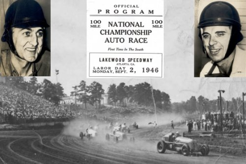 Labor Day, 1946 saw George Barringer (left) and George Robson (right) lose their lives in a AAA Indy car event at Lakewood Speedway in Atlanta.