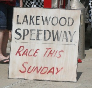 Lakewood Speedway sign recreation by Ron Edwards.
