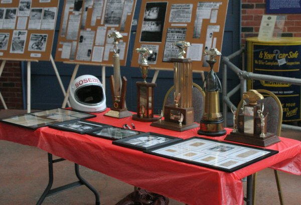 "2009 Georgia Racing Hall of Fame inductee Katron ""Cannonball"" Sosebee had some items on display."