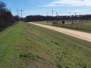 The site today of the Central City Speedway. The half-mile is completely gone, with the outline of the mile track remaining.  Photo by Joe Cawley