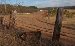 Middle Georgia Raceway, once one of the most popular tracks in the state, sits rotting away now in Byron, Georgia.  The last race run at the facility was in 1984.  Photo courtesy Henry Jones