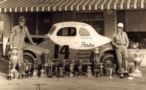 Bob Flock, pictured left, and Red Byron, pictured right, were both winning drivers for Raymond Parks.  Photo courtesy Eddie Samples