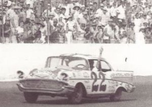 Fireball Roberts piloted his Paul McDuffie prepared '57 Chevy to victory lane at the 1958 Southern 500.