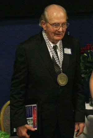 Katron Sosebee smiles for the cameras during his induction into the Georgia Racing Hall of Fame in October of 2009.