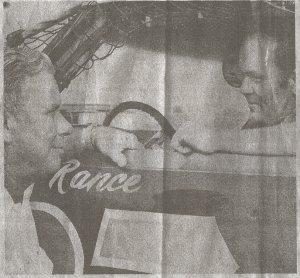 Rance Phillips and promoter Julian Klien.