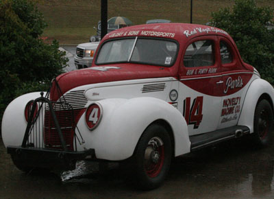 This car represents four members of the GRHOF – Raymond Parks (owner), Red Vogt (mechanic), and Bob and Fonty Flock (drivers).
