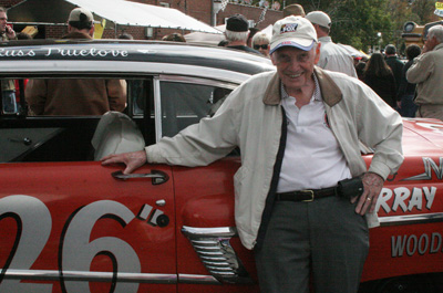 Former NASCAR driver Russ Truelove is always one of our favorites to see at the Moonshine Festival.  He brought his Mercury out this year – which looks just like the one he tumbled down Daytona Beach in back in 1956 (before the wreck, of course).