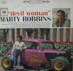 "Robbins famed ""Devil Woman"" racer graced the cover of the album of the same name."