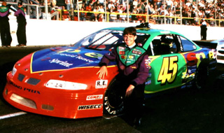 Adam Petty with his ASA Pontiac in 1998.  Photo courtesy Andy Towler