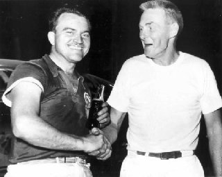 Fonty Flock (left) and Red Vogt (right) were a formidable driver-mechanic combination.