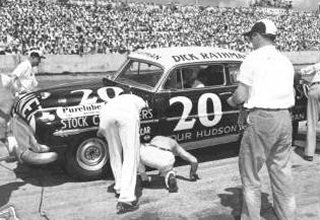Dick Rathmann piloted his Hudson Hornet to three wins in a row.