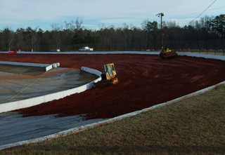 A recent photo shows that Senioa Raceway is well on it's way to returning to dirt for the 2010 season. Photo courtesy www.newsenioaraceway.com